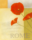 Rome Floral Views Poster by William Verner