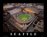 Safeco Park - Seattle, Washington Prints by Mike Smith