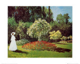 Lady in a Garden Print by Claude Monet