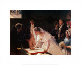 Signing the Register Art by Edmund Blair Leighton
