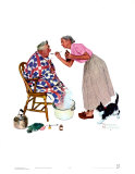 Spring Tonic Print by Norman Rockwell