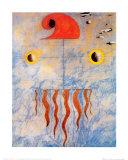 Tete de Paysan Catalan, c.1925 Poster by Joan Miró