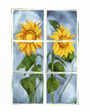 Sunflowers at the Window Posters by Sonia P.