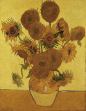 Fifteen Sunflowers Kunstdruck von Vincent van Gogh