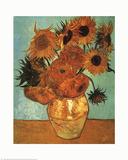 Doce girasoles Láminas por Vincent van Gogh
