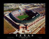 Texas - First Rangers Day Game at The Ballpark In Arlington Prints by Mike Smith