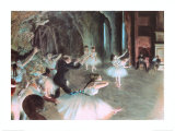 The Rehearsal of the Ballet on Stage, c.1874 ポスター : エドガー・ドガ
