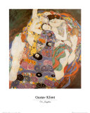 The Virgin Posters by Gustav Klimt