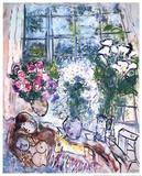 La fenêtre blanche Affiches par Marc Chagall