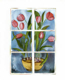 Tulips at the Window Posters by Sonia P.