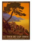 Rundfahrt auf Cap Corse Poster von Roger Broders