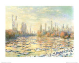 The Thawing Print by Claude Monet