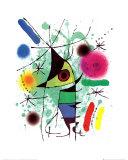 De zingende vis Print van Joan Miró