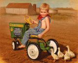 Tractor Poster von David Lindsley