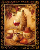 Tuscan Table, Chianti Print by Gregory Gorham