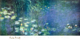 Water Lilies Morning Posters by Claude Monet