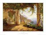 Carl Frederic Aagaard - Amalfi Sahili Manzarası (View to the Amalfi Coast) - Reprodüksiyon