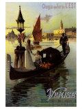 Venise Print by Hugo D'Alesi
