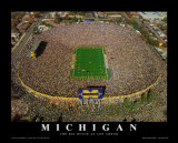 Michigan, The Big House at Anna Arbor Prints by Mike Smith