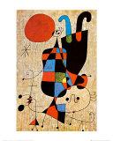 Silhouettes tête-bêche Posters par Joan Miró