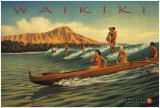Waikiki Posters by Kerne Erickson