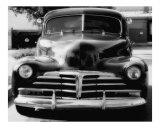 Chevrolet antiguo en blanco y negro Lámina fotográfica por Matthew  T Tourtellott