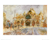 Piazza San Marco, Venice Affiches par Pierre-Auguste Renoir