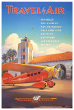 Western Air Express Poster par Kerne Erickson