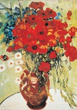 Vase with Daisies and Poppies Poster van Vincent van Gogh