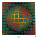 Vega-Nor Poster by Victor Vasarely