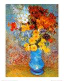 Vas med blommor, 1887 Posters av Vincent van Gogh