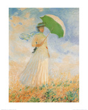 Woman with Parasol Print by Claude Monet