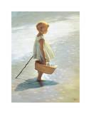 Chica joven en una playa Pósters por I. Davidi