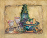 Wine and Fruit II Prints by Joyce Combs