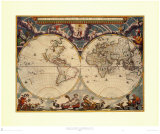 World Map Prints by Joan Blaeu