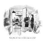 """Gosh, Ethel, all I know is he had a ready wit at Yale."" - New Yorker Cartoon Premium Giclee Print by Stan Hunt"