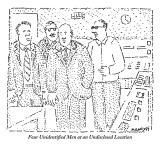 Four Unidentified Men at an Undisclosed Location - New Yorker Cartoon Premium Giclee Print by Robert Mankoff