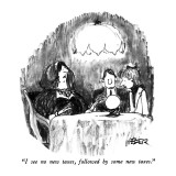 """I see no new taxes, followed by some new taxes."" - New Yorker Cartoon Premium Giclee Print by Robert Weber"