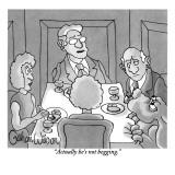"""Actually he's not begging."" - New Yorker Cartoon Premium Giclee Print by Gahan Wilson"