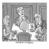 """Actually he's not begging."" - New Yorker Cartoon Premium Giclee Print by Gahan Wilson"
