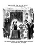 """""""O.K. Now, if he comes at you with 'A house divided against itself cannot …"""" - New Yorker Cartoon Premium Giclee Print by Ed Fisher"""
