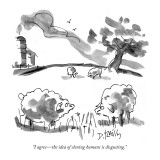 """I agree—the idea of cloning humans is disgusting."" - New Yorker Cartoon Premium Giclee Print by Donald Reilly"