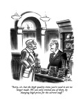 """Sorry, sir, but the high-quality items you're used to are no longer made.…"" - New Yorker Cartoon Premium Giclee Print by Ed Fisher"