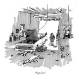 """Nap time."" - New Yorker Cartoon Premium Giclee Print by George Booth"