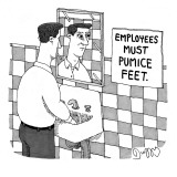 """Employees must pumice feet."" - New Yorker Cartoon Premium Giclee Print by J.C. Duffy"