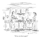 """Oh no, not dinner again!"" - New Yorker Cartoon Premium Giclee Print by Barbara Smaller"