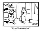 """Why, yes, I do have buns of steel."" - New Yorker Cartoon Premium Giclee Print by Bruce Eric Kaplan"