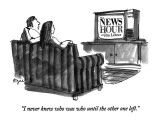 """I never knew who was who until the other one left."" - New Yorker Cartoon Premium Giclee Print by Jon Agee"