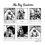 The Big Questions - New Yorker Cartoon Premium Giclee Print by Huguette Martel