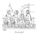 """Oh, is that today?"" - New Yorker Cartoon Premium Giclee Print by Robert Leighton"